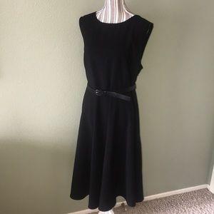 Little Black Dress with Belt sz 22